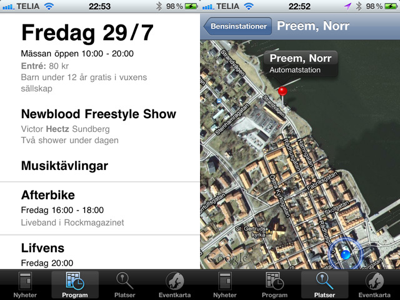 iPhone-app åt HojRock
